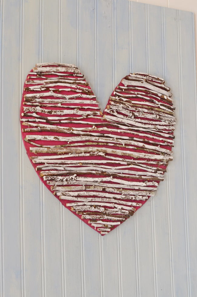 rustic twig heart | Cottage at the Crossroads