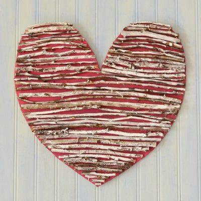 rustic twig heart