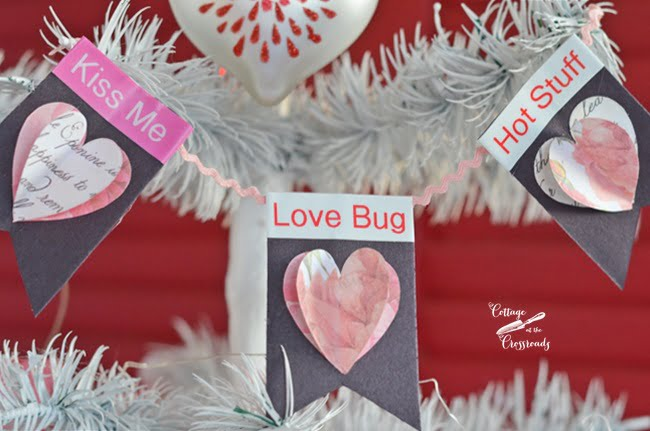 Valentine's Day decorations made with a Brother P-Touch label maker
