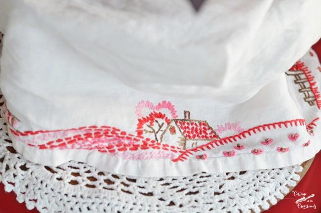 vintage embroidery | Cottage at the Crossroads