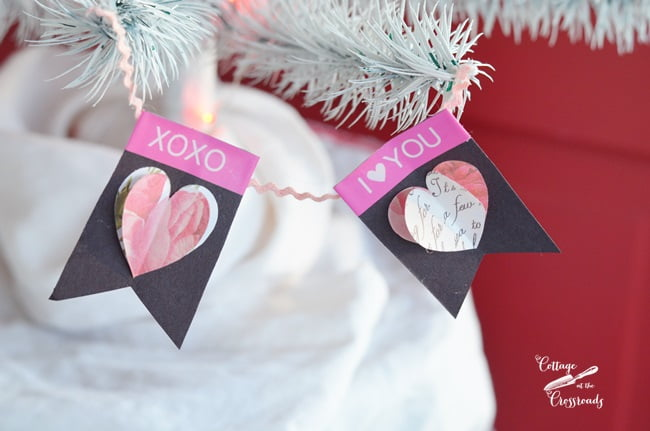 Valentine's Day decorations made with a Brother Label Maker
