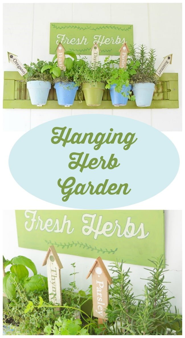 how to make a hanging herb garden cottage at the crossroads