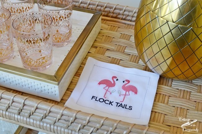 flamingo cocktail napkins