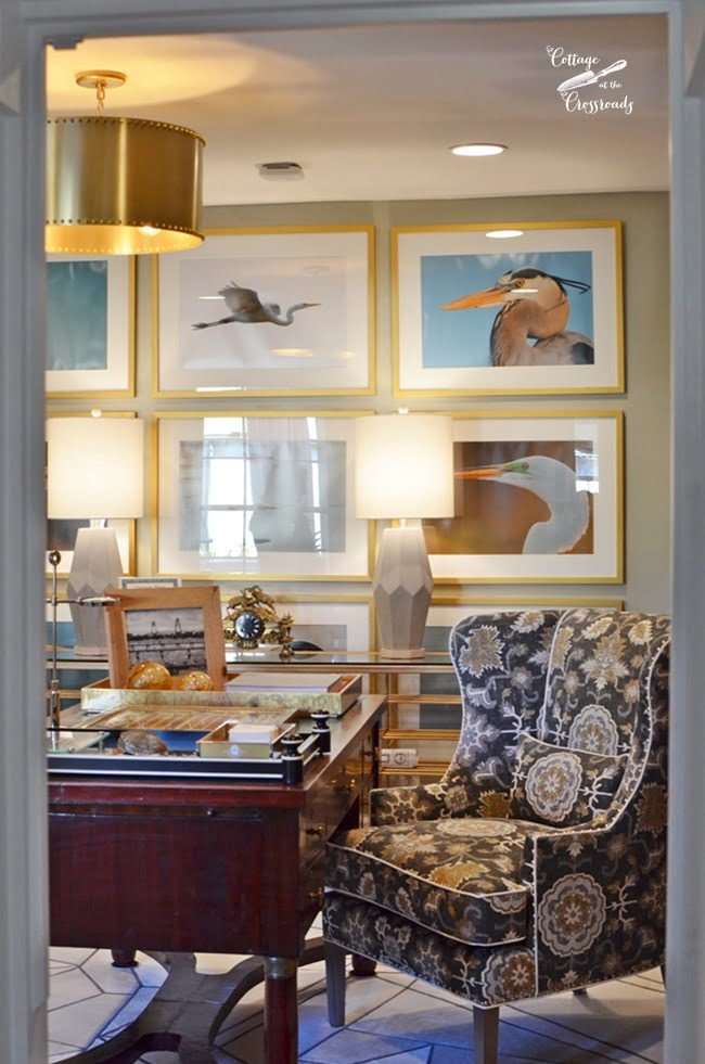 Man's study at the Designer Showhouse | Cottage at the Crossroads