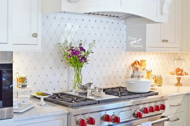 backsplash in the kitchen at the Designer Showhouse | Cottage at the Crossroads