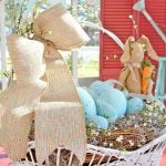 painted plastic Easter eggs in a huge basket | Cottage at the Crossroads