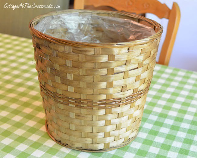 wicker plant basket | Cottage at the Crossroads
