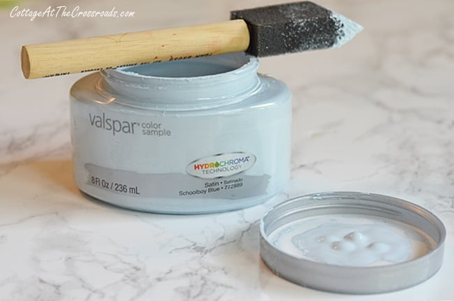 sample pot of Valspar paint | Cottage at the Crossroads