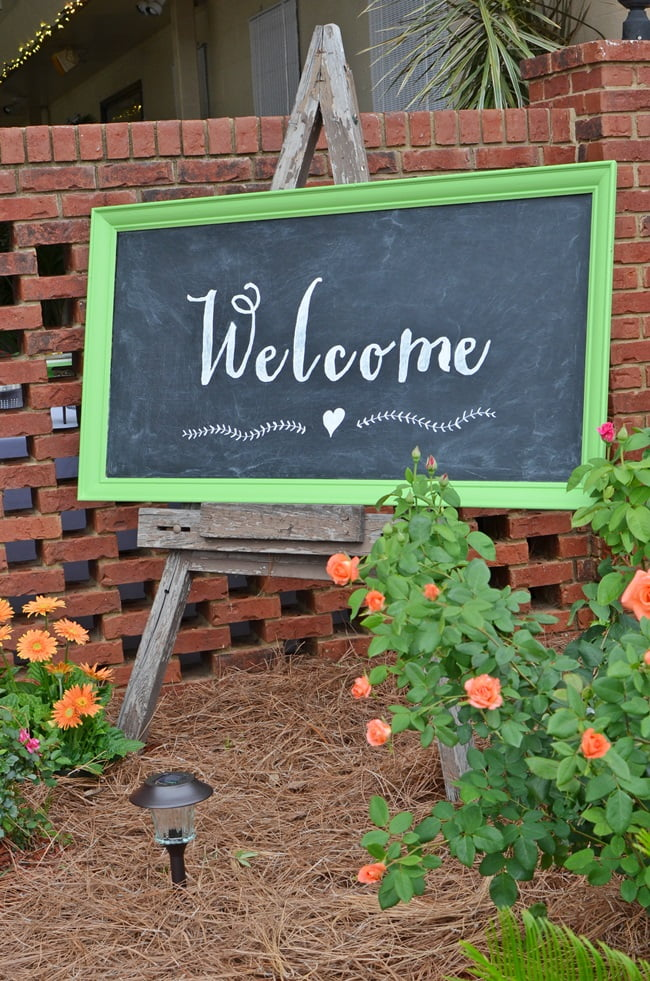 DIY Welcome Chalkboard | Cottage at the Crossroads
