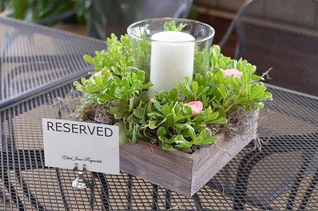 small centerpieces for tables | Cottage at the Crossroads