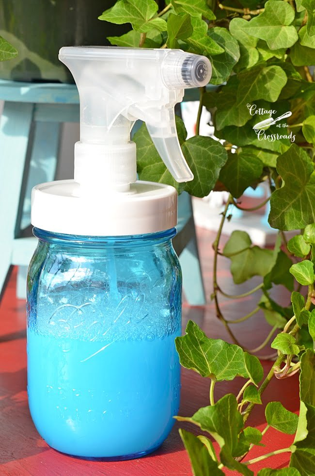 DIY Shower Cleaner in a Mason jar