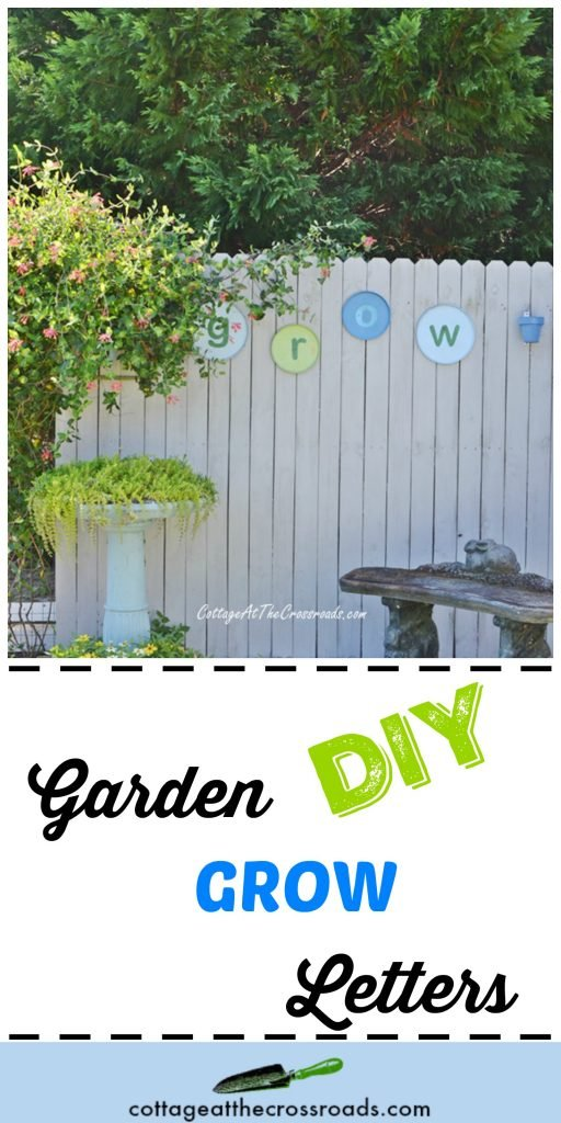 Easy, quick, and thrifty way to create your own garden GROW letters