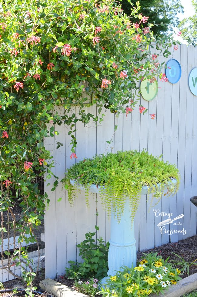 DIY Garden Grow Letters made from Burner Covers