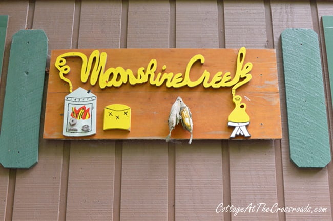 Moonshine Creek Campground sign