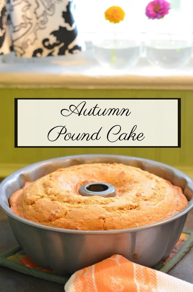 A delicious, moist autumn pumpkin pound cake recipe that's perfect for fall!