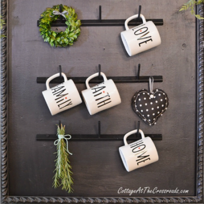 DIY Farmhouse Style Mug Rack