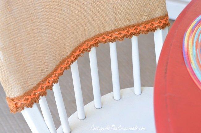 burlap chair covers