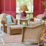 aqua autumn porch