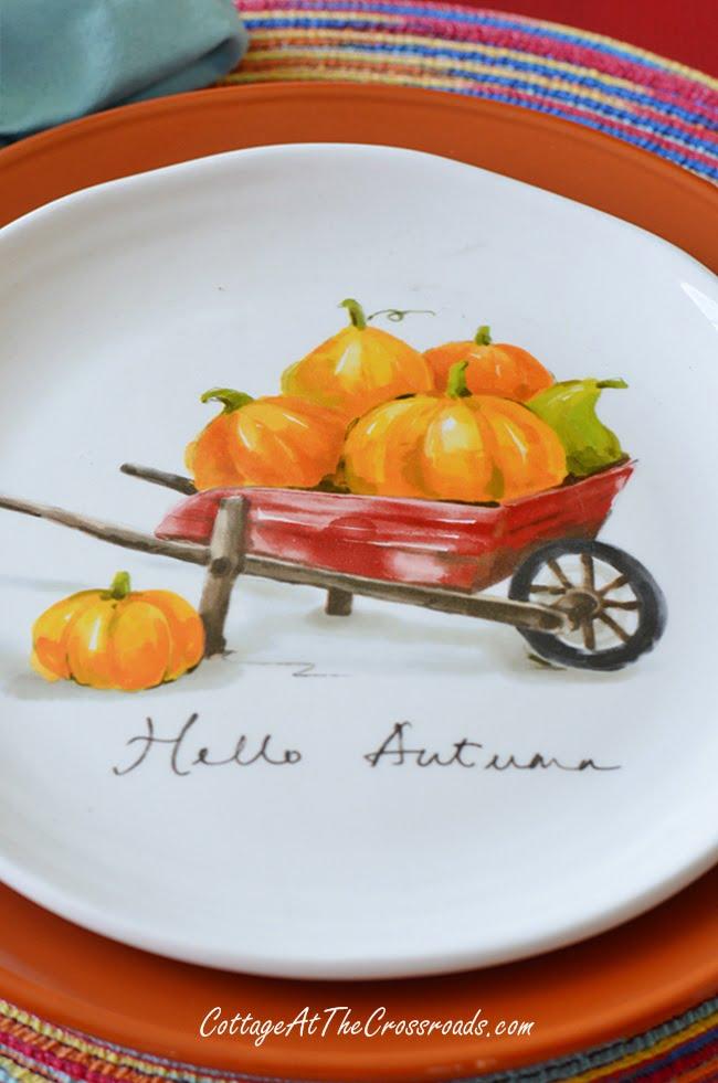 Hello Autumn plates from Pier 1