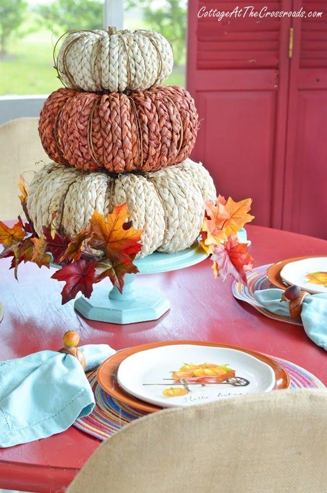 autumn front porch