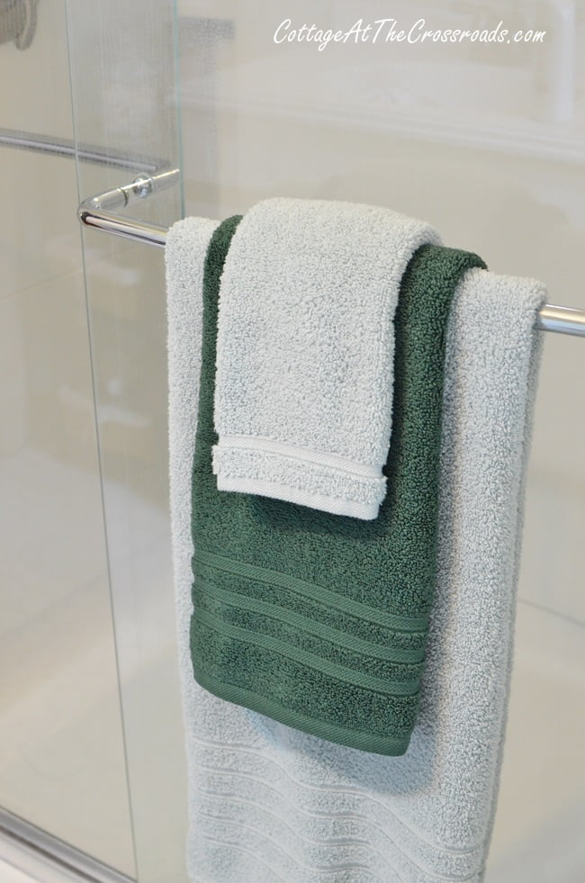 Hotel Collection Micro Cotton Towels used in a bathroom update