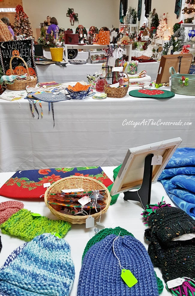 items at a church bazaar