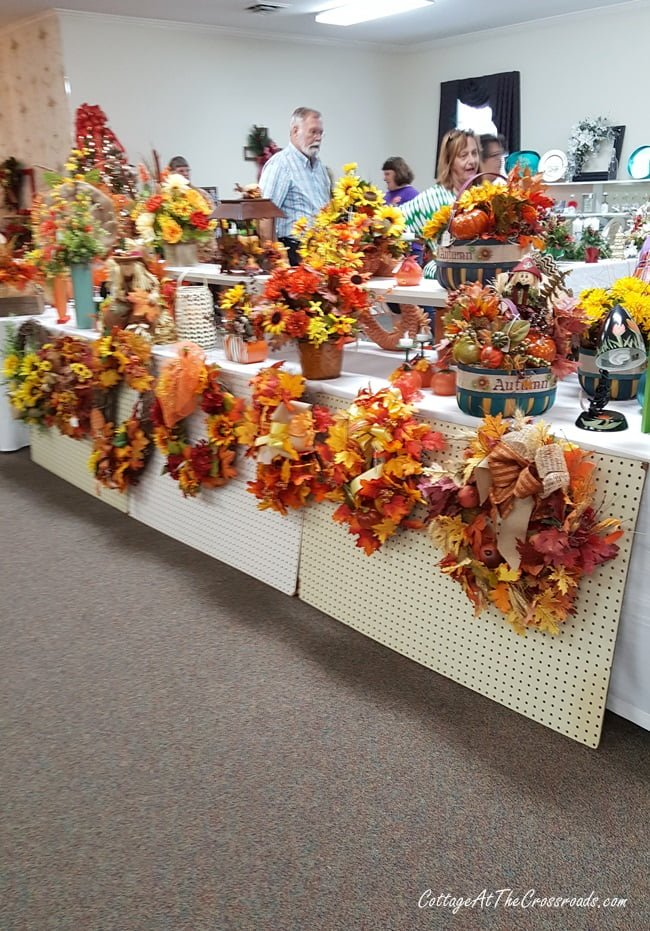 fall craft items at our church bazaar