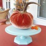 handmade velvet pumpkin