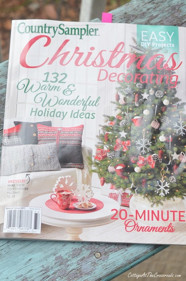 Country Sampler Christmas Decorating magazine