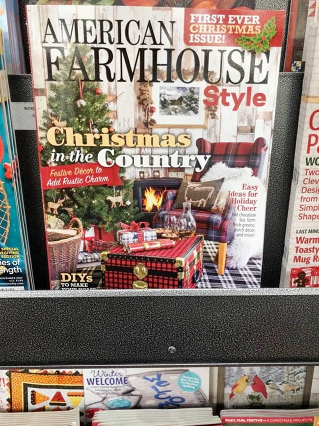American Farmhouse Style magazine-first Christmas edition