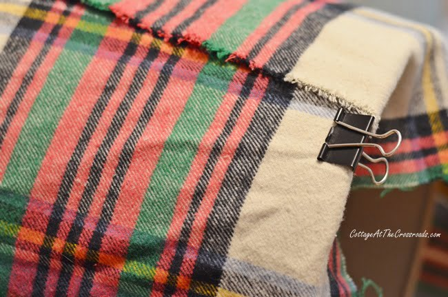 DIY: How to Cover a Lampshade with Plaid Fabric