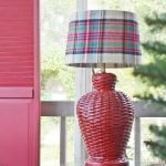 Thrifty Plaid Lampshade Cover