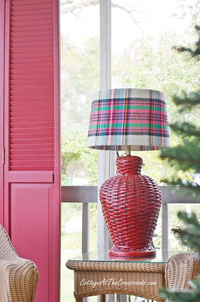 DIY: How to Make a Plaid Lampshade Cover
