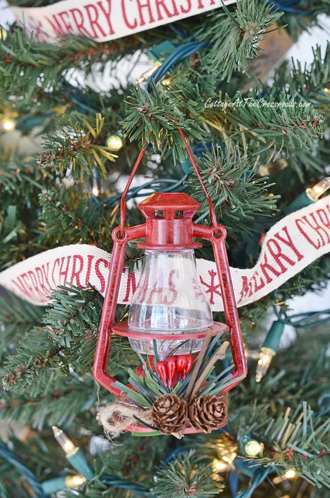 red lantern christmas ornament - Christmas Camper Decoration