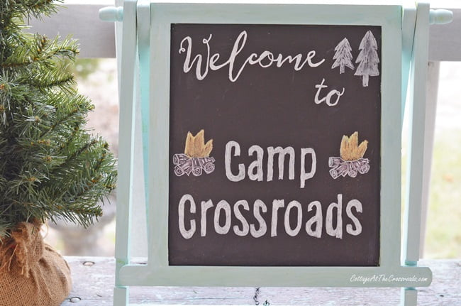 vintage camper christmas porch decorations at camp crossroads