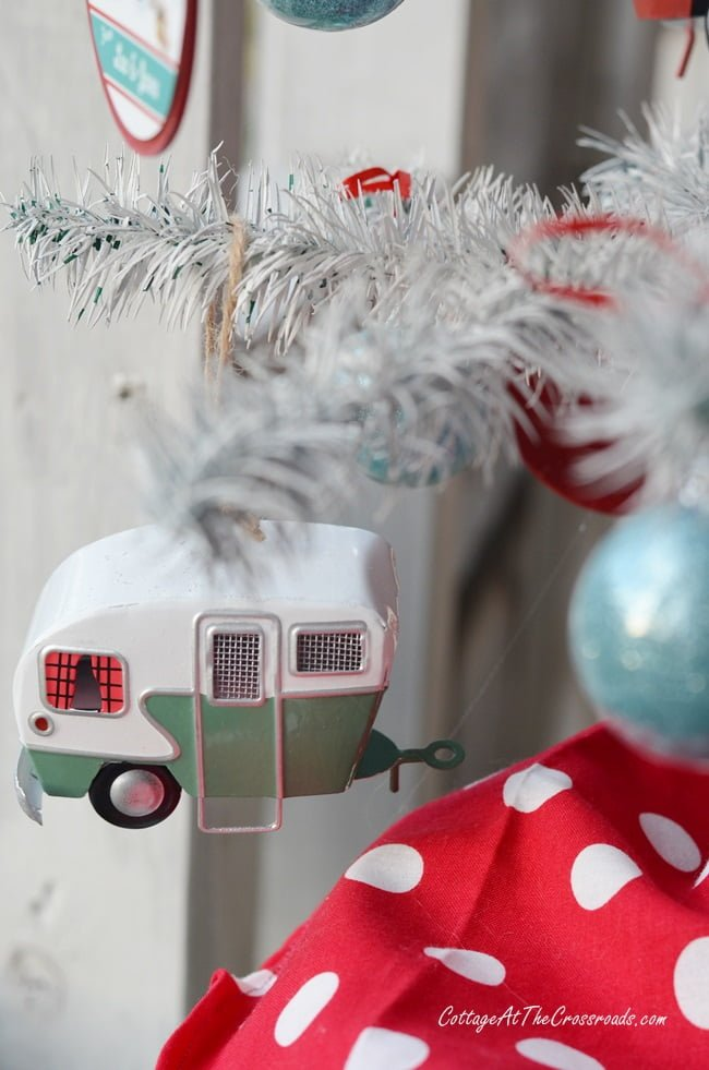 vintage camper christmas ornament