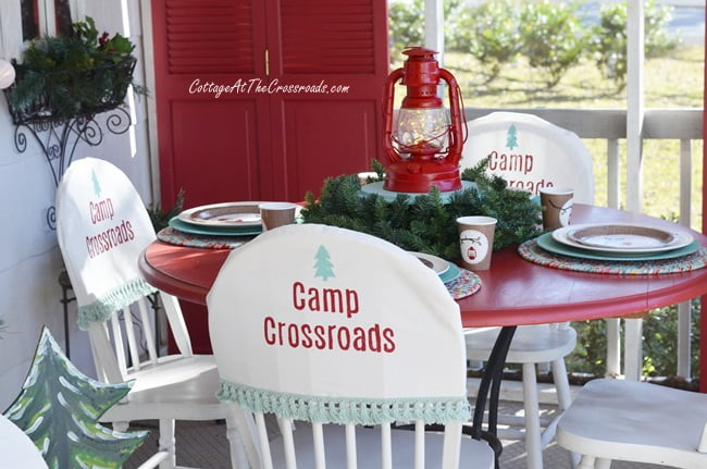 handmade Christmas chair covers
