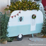 vintage camper Christmas porch decorations