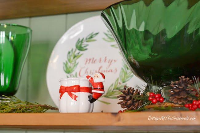 vintage Santa candle holders