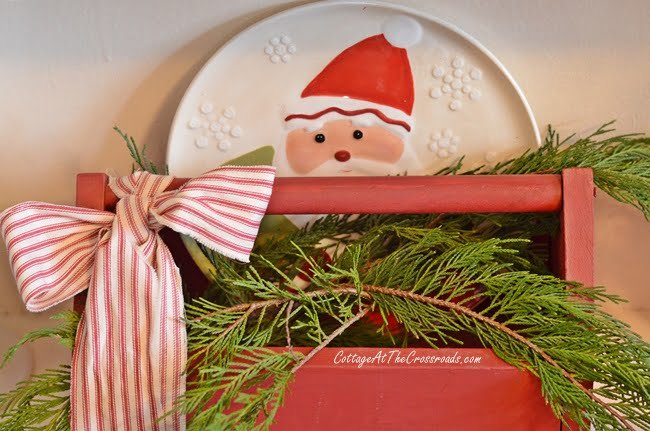 Santa in a red tool box