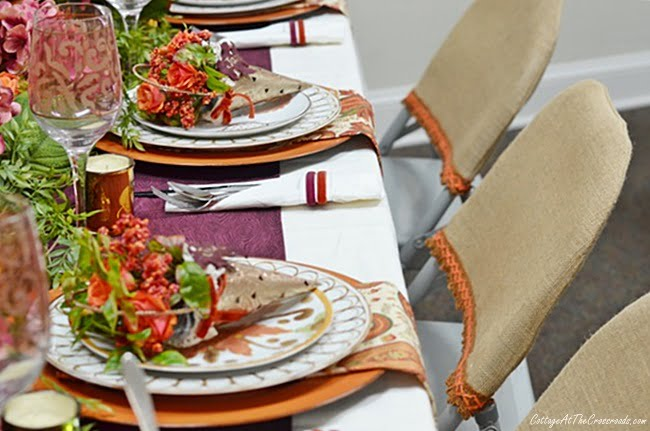 burlap folding chair covers
