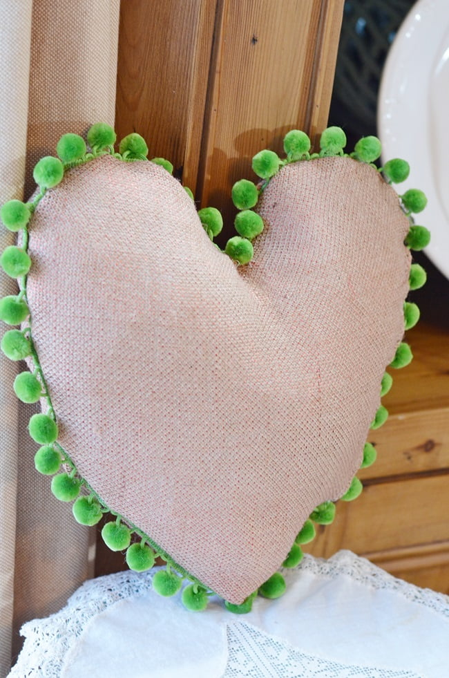 Heart shaped Valentine's Day pillow
