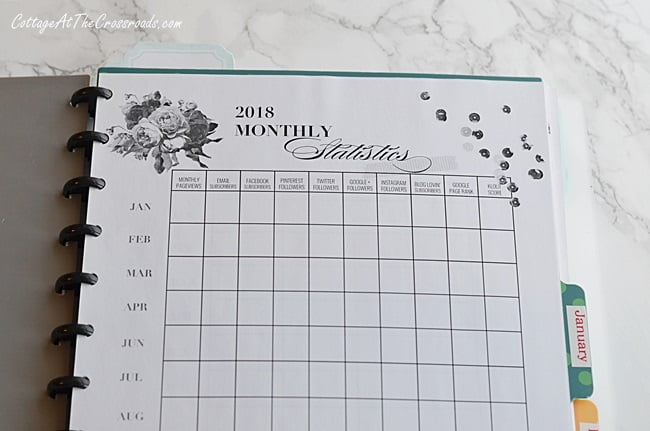 a page from Jennifer Carroll's blog planner