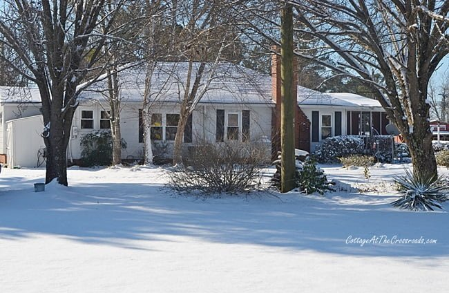 Our country cottage in the snow