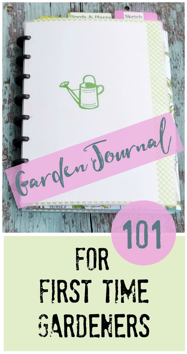 Directions on how to set up a garden journal for the first time