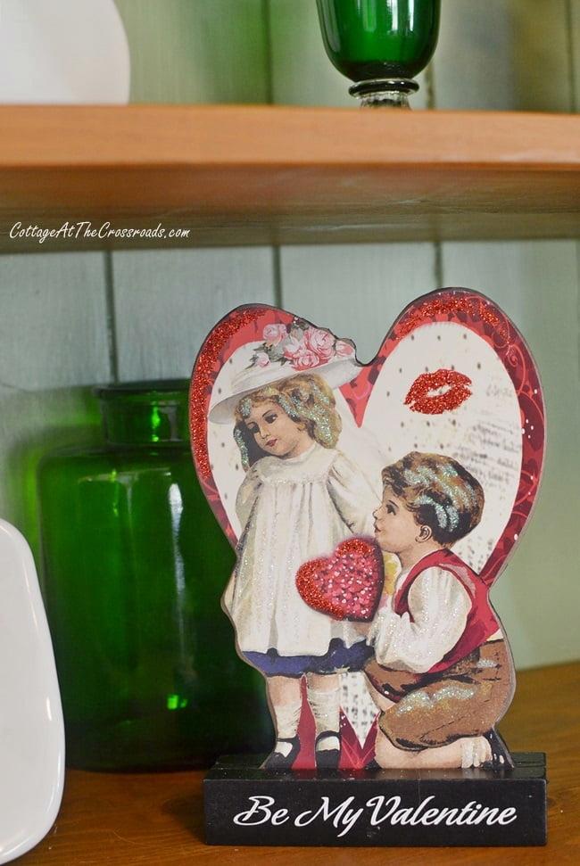 vintage style Valentine decoration