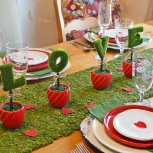 Love in Bloom Valentine's Day Tablescape