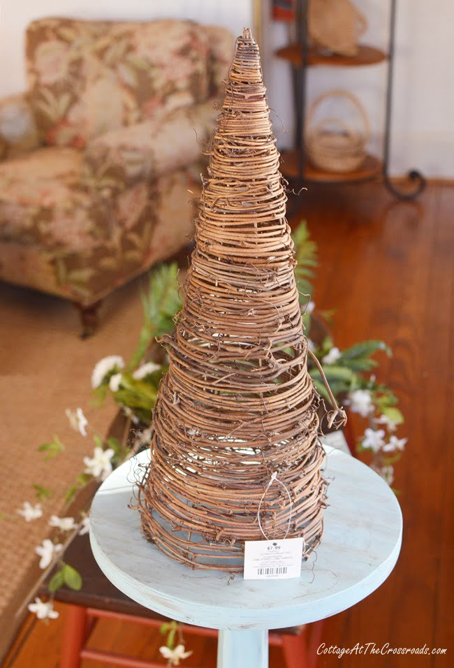 Early Spring Grapevine Cone Topiary Cottage At The