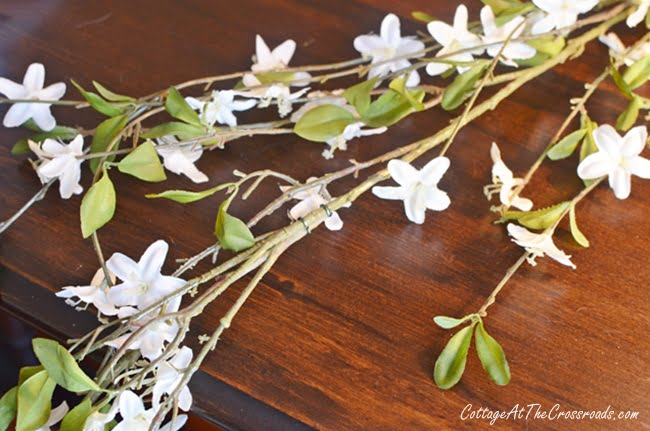 apple blossom faux spring garland