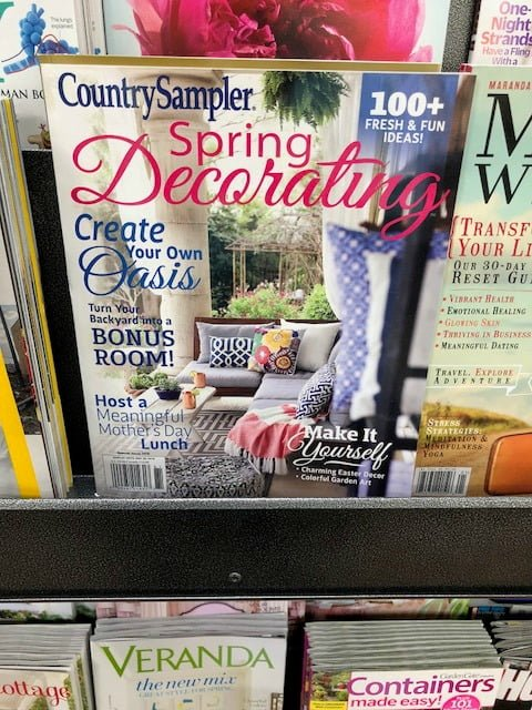 Country Sampler Spring Decorating magazine on the stands